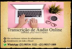 Transcrição de Áudio R$ 70,00