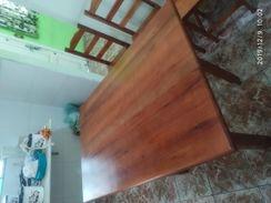 Mesa de Madeira C/4 Cadeiras 1.20 X 60